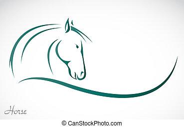 Vektorbild eines Pferdes.