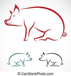Vektorbild eines Schweins
