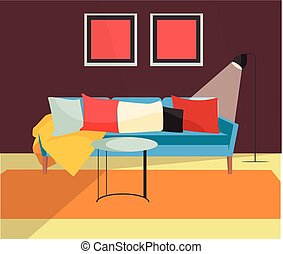 Vektordesign des Wohnzimmers