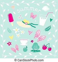 Vektorelemente zum Thema Sommer
