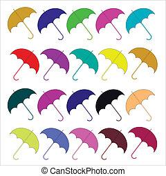 Vektorfarbene Regenschirme