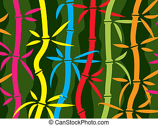 Vektorfarbener Bambus-Hintergrund