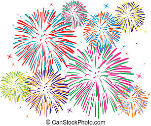 Vektorfarbenes Feuerwerk
