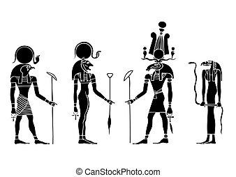 Vektorgötter des alten Ägyptens