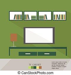 Vektorgrafik des Wohnzimmers.