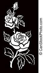 Vektorgrafische Kunst der Rose-Blume w