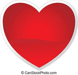 Vektorherz für das Valentinstagsbild deines Valentins.