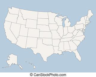 Vektorkarte der Vereinigten Staaten von Amerika