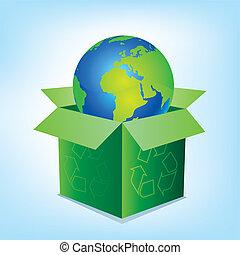 Vektorkasten und Erde