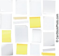 Vektorpapier und Post-it