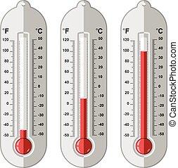 Vektorset von Thermometern.