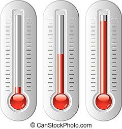 Vektorset von Thermometern