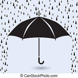 Vektorsymbol des Schutzschirms vor Regen