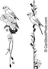 Vektorteiler mit Vogel.