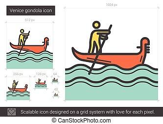 Venedig Gondelbahn Ikone.