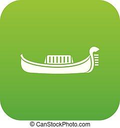 Venedig Gondola Icon digital grün.
