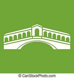 Venice Bridge Ikone grün