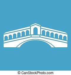 Venice Bridge Ikone weiß.