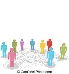 Verbinden Sie Menschen mit sozialen Netzwerkverbindungen