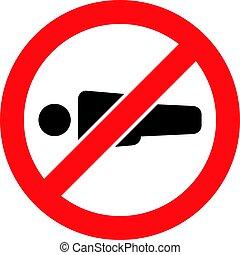 verboten, ikone, -, mann- abbildung, figur, vektor