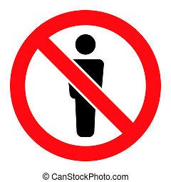 verboten, ikone, -, raster, mann- abbildung, figur