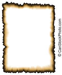 Verbranntes Papier