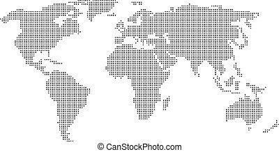 Verdorbene Weltkarte