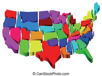 Vereinigte Staaten Karte.