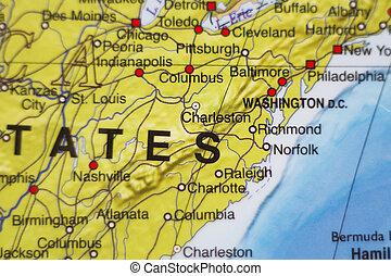Vereinigte Staaten von Amerika Landkarte .