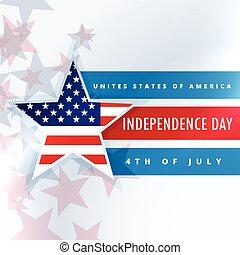Vereinigte Staaten von Amerika Unabhängigkeitstag.