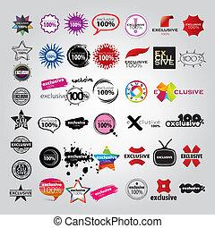 Verfassen Sie die Sammlung von Logos-Schildern