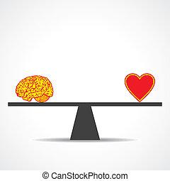 Vergleiche Verstand mit Herz