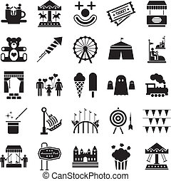 Vergnügungspark-Ikonen