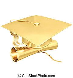 vergoldet, studienabschluss