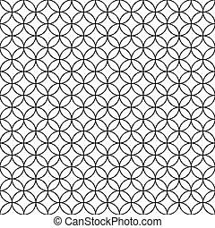 Verkabelter Zaun. Schwarzer Ringkäfig auf weißem Hintergrund. Vector