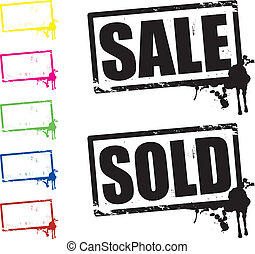 Verkaufs- und Verkaufsschilder
