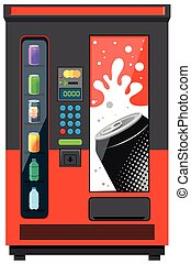 Verkaufsautomat mit Softdrinks.