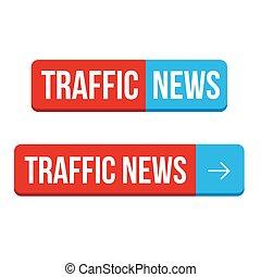 Verkehrsnachrichten-Knopfvektoren.
