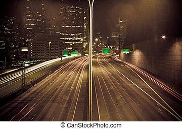 Verkehrsstau in der Stadt.