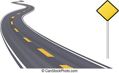 Verkehrszeichen-Informationsraum auf der Autobahn