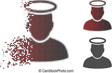 Verkleinertes Pixel-Halbton-Silber