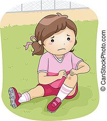 verletzung, fußball