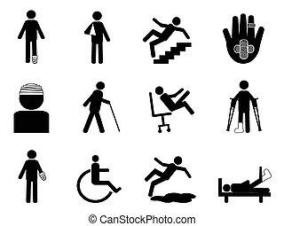 Verletzungs-Ikonen eingestellt