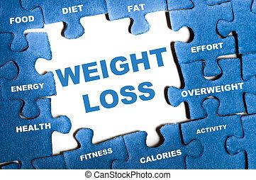 verlust, puzzel, gewicht