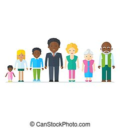 Vermischte schwarze Familie