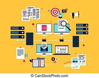 vernetzung, geschaeftswelt, rechnen, intelligence., daten, wolke, vorrichtungen & hilfsmittel