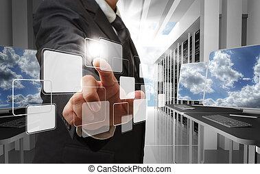 vernetzung, wolke, begriff