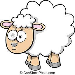 Verrückter Lammvektor