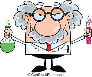 Verrückter Wissenschaftler oder Professor