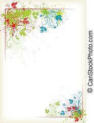 Verschütten farbenfrohen Blumenrahmen